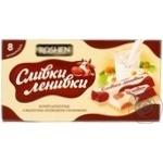 Шоколад Roshen Сливки-ленивки білий з молочно-кремовою начинкою 8шт 100г картонна упаковка Україна