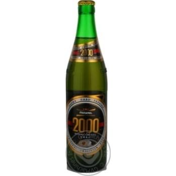 Пиво 0,5л 8% Оболонь Міцне Світле 2000