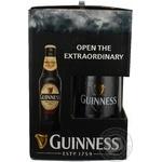 Набір пиво темне Guinness Original 4,8% 3*0,33л скл/пл+бокал 0,99л