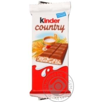 Шоколад молочний Kinder Country зі злаками 23,5г
