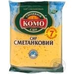 Сир 50% Сметанковий нарізка Комо 220г
