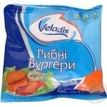 Бургери рибні з хека в паніровці Veladis 420г