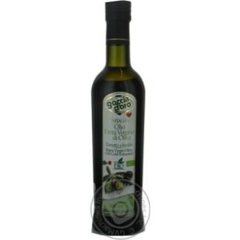 Олія оливкова першого холодного віджиму нерафінована Goccia D'oro 0,5л