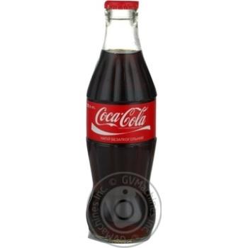 Напиток Кока-Кола сильногазированный 250мл стеклянная бутылка Украина