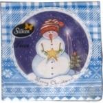 Салфетка Silken Декор Новогодняя 3 слоя 18шт/уп