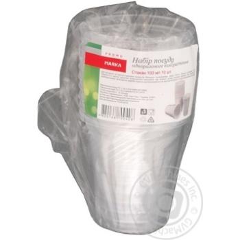 Glass Marka promo plastic 10pcs 100ml - buy, prices for Novus - image 1