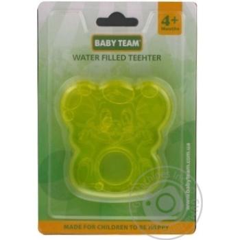 Прорезыватель для зубов Baby team с водой