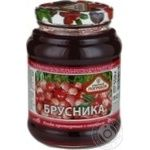 Jam Togrus cranberries canned 550g glass jar Russia