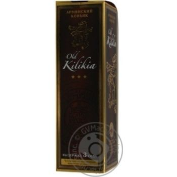 Коньяк Вірменський Old Kilikia 3 роки 40% в зв.бут.0,5л - купить, цены на Novus - фото 4
