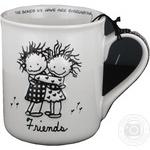 Чашка керамічна Друзі Enesco 0,4л 32320