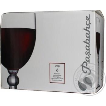 Бокал для вина Pasabahce Step 44654 6шт - купить, цены на Novus - фото 2