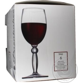 Бокал для вина Pasabahce Step 44654 6шт - купить, цены на Novus - фото 3