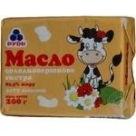 Масло солодковершкове 82,5% Екстра Рудь 200г