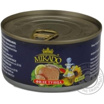 Тунець філе в олії  Мікадо 195г