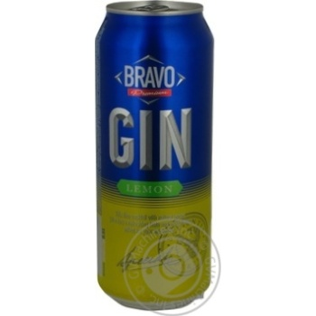 Beverage Bravo premium Bravo low alcohol 7% 500ml Russia