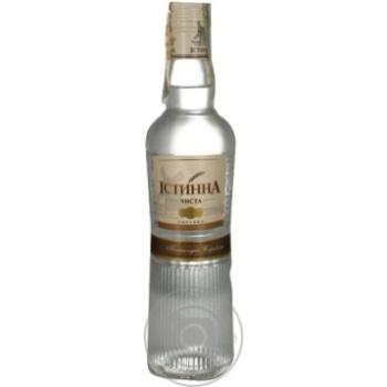 Водка Истинна 40% 375мл стеклянная бутылка Украина