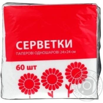 Салфетки Эко-номка однослойные 60шт - купить, цены на ЕКО Маркет - фото 3