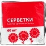 Салфетки Эко-номка однослойные 60шт - купить, цены на ЕКО Маркет - фото 1