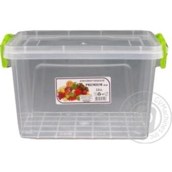 Контейнер пищевой Premium №3 высокий с крышкой 141X212X146мм 2л - купить, цены на Ашан - фото 2
