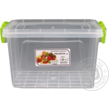 Premium №3 Food container high with lid 141X212X146mm 2l - buy, prices for Auchan - photo 4