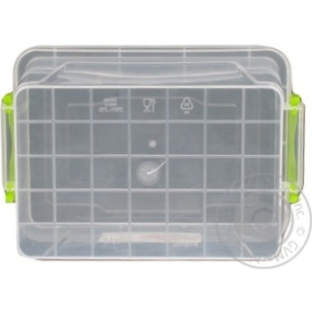 Premium №3 Food container high with lid 141X212X146mm 2l - buy, prices for Auchan - photo 3