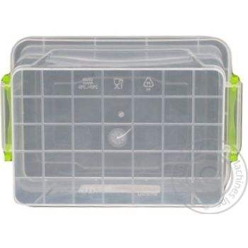 Premium №3 Food container high with lid 141X212X146mm 2l - buy, prices for Auchan - photo 5