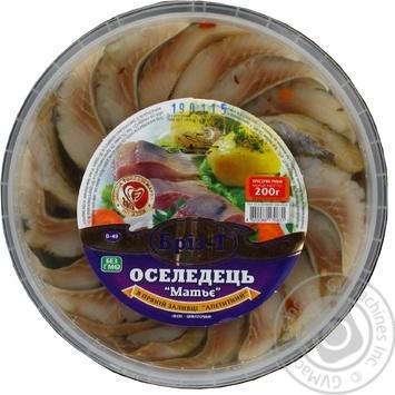 Fish herring Briz-t Matie spicy salted 200g