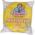 Молоко Добряна топленое 2.5% 450г Украина