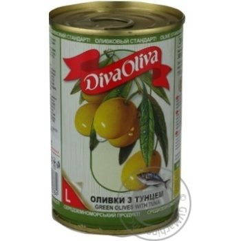 olive Diva oliva tuna green canned 300g can - buy, prices for MegaMarket - image 1