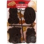 Форми для вирізання печива зі штампуванням малюнку Zenker 4 шт. пластик
