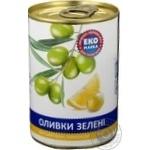 оливка Эко лимон зеленый фарширований 300г железная банка