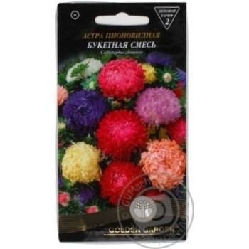 Golden Garden Peony Aster Bouquet Mix Seeds 0,3g