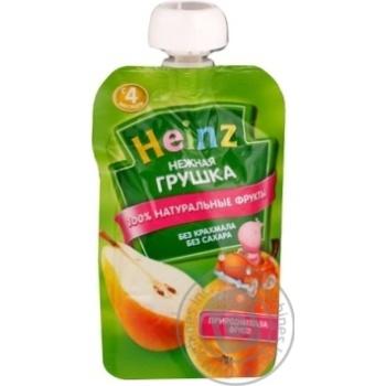Пюре ніжна грушка пауч Heinz 100г