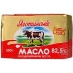 Масло Яготинское сладкосливочное экстра 82.5% 200г Украина