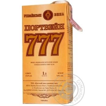 Вино Bahus портвейн 777 біле напівсолодке 1л