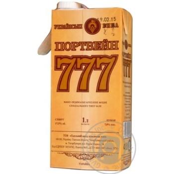 Вино белое Крымские Вина Портвейн 777 Белый ординарное крепкое 17.5% тетрапакет 1000мл Украина - купить, цены на Ашан - фото 2