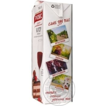 Picnic Ukrainian Cahor Red Sweet Wine 16% 1l - buy, prices for Novus - image 3