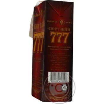 Вино Крымские Вина Портвейн 777 красное крепкое 17.5% 1л - купить, цены на Ашан - фото 3