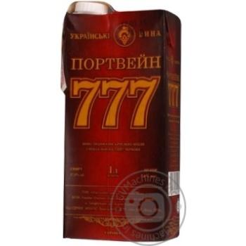 Вино Крымские Вина Портвейн 777 красное крепкое 17.5% 1л - купить, цены на Ашан - фото 2