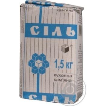 Соль каменная Артемсоль кухонная 1.5кг - купить, цены на Novus - фото 2