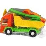 Іграшка Тигрес Mini truck вантажівка з набором до піску 5 елементів