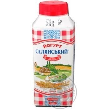 Йогурт питний 2,5% з наповнювачем злаки Селянське т/т 330г