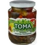 Vegetables tomato Toma №6 canned 660g glass jar