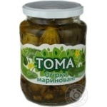 Vegetables cucumber Toma slightly acidic 720ml glass jar Ukraine