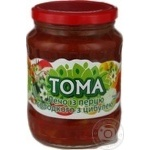 Vegetables Toma canned 680g glass jar