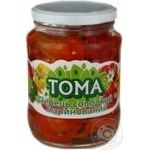 Vegetables pepper Toma pickled 650g glass jar