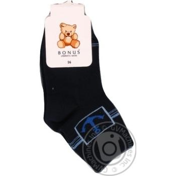 Шкарпетки дитячі т.сині Бонус 2147 р.16 - купити, ціни на Фуршет - фото 1