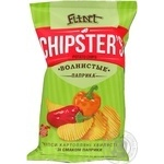 Чипсы Flint Chipster's картофельные волнистые Паприка  70г Украина