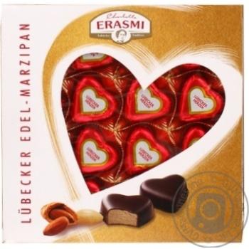 Цукерки марципанові Erasmi Любекські в шоколадній глазурі 200г