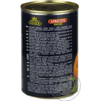 Абрикос половинки в сиропі Мікадо 410г - купить, цены на Novus - фото 4